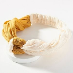 Anthropologie Giaconda Twist Hairband Yellow/Cream